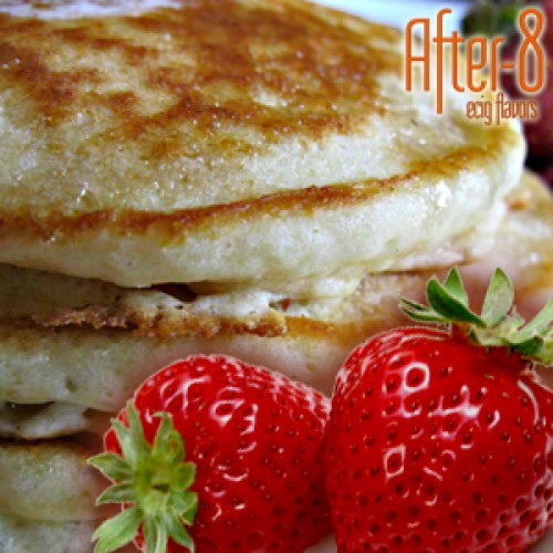 Creamy strawberry pancakes flavour